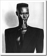Grace Jones rocks shoulder pads