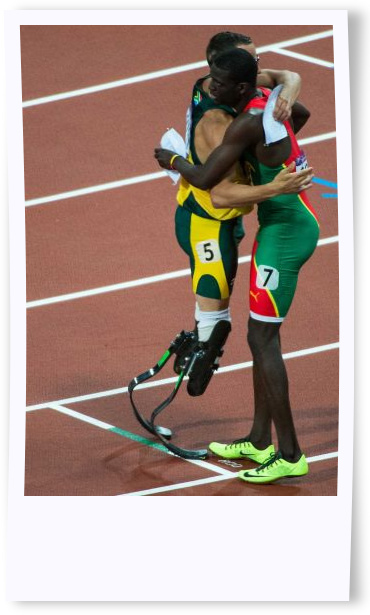 Kirani James and Oscar Pistorius1 Put on your different shoes and do what you were meant to do
